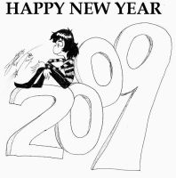 JoJo: HAPPY NEW YEAR 2009 by Princess-Kraehe