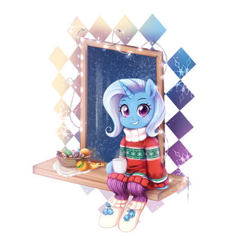Trixie Lulamoon - Winter by JumbleHorse