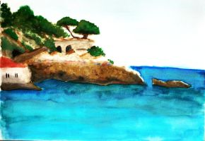 The Aegean Sea by hope-on-fire
