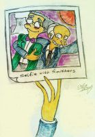 Selfie with Smithers by AlBrolz