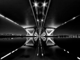 Under the bridge bw2 by almiller