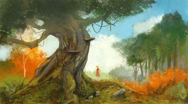 A young lady and her tree by kinnas