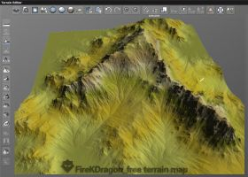 [free]Snow mountain terrain map by FireKDragon