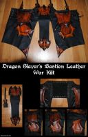 Dragon Slayers Bastion Leather War Kilt by Epic-Leather