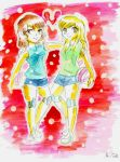 Volleyball London and Maddie by SonicPossible00