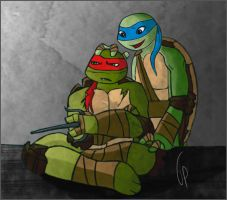 TMNT - Grumpy Brother - Raph Leo by NerwenAdanedhel