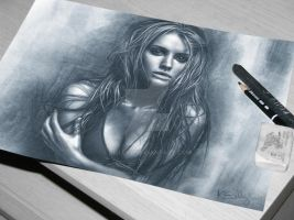 Drawing portrait by keillly