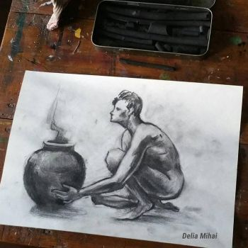 Charcoal Sketch by delira
