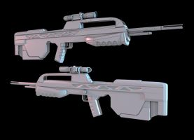 Halo 3 Battle Rifle by martynball