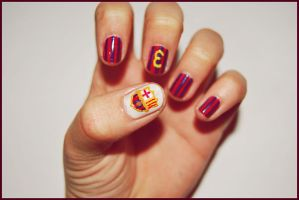 FC Barcelona nails by martinrivass