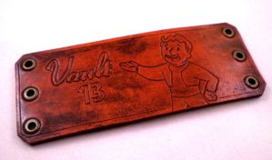 Fallout Vault 13 Leather Cuff1 by Skinz-N-Hydez