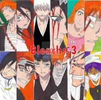 Bleach Bookmark Collage by ChemicallyUsed