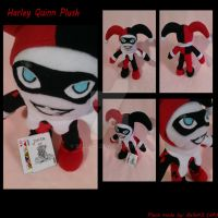 Hey Puddin' [Art Trade] Harley Quinn Plush by Belle43