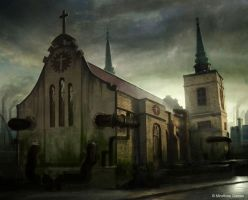 Dark Church by Concept-Art-House
