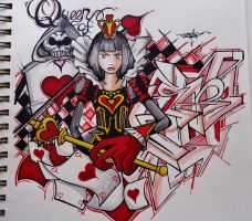 Queen Of Hearts by Precise24