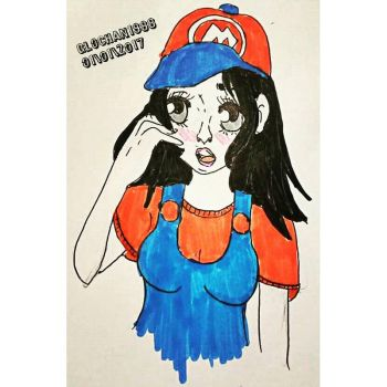 girl version of super mario by Glochan88