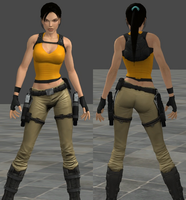 Chloe's Outfit with Black Hair for XNALara by ManimalR