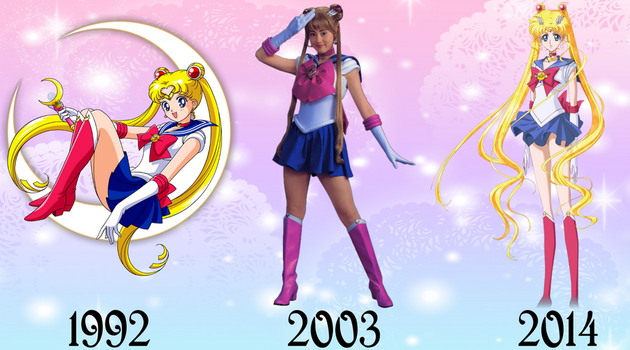 Sailor Moon Over The Years by FlyingPrincess