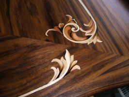 Table Louis XV. - 2 - marquetry detail by bengo-matus
