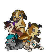 Gift art: Dogpile by Koala-Sam