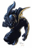 Black Panther Colored by 9Tails-Studiokoto