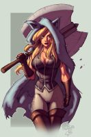 Hunter Chick by Nema version 2 by Ross-A-Campbell