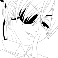 Ciel Phantomhive Lineart by Allichan96