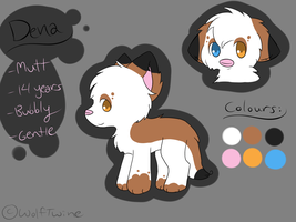Dena Ref Sheet by WolfTwine