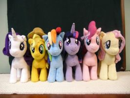 The Mane 6 by wilshirewolf