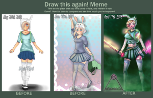 Draw this again meme - My art evolution by EpicTaxi