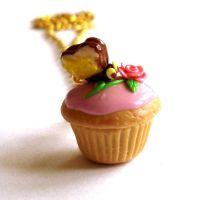 Alice Cupcake Necklace by FatallyFeminine
