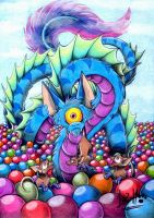 The beast of the ball pit by Chocolatechilla