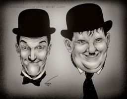 Laurel and Hardy by VinRoc