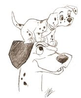 Pongo with Puppy Freckles on.. by HB6