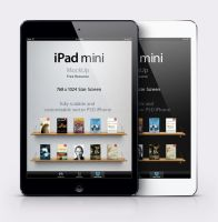 iPad Mini Psd Vector Mockup by Pixeden