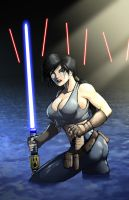 Unfavorable odds for a Jedi... by ArmourWing