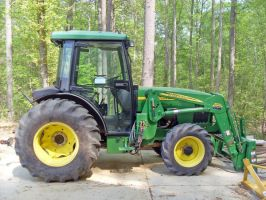 Green and Yellow Tractor by vacuumslayer