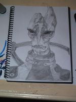 ME2- Mordin pencil sketch by mad-dragon249