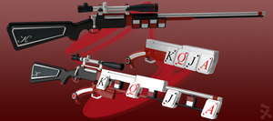 Checkmate (RWBY OC weapon) by JackBryanReynard