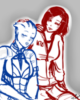 Just rest a little WIP-ME by Tsukahime