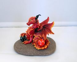 Double Dice Fire Dragon by LittleDragonDesigns