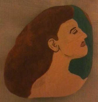 Cameo Painted Rock by poempainter