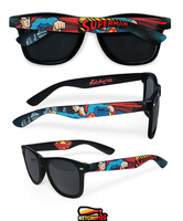 Superman hand painted sunglasses by Ketchupize