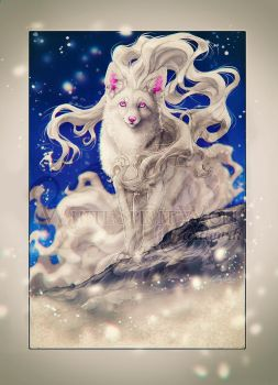 .: Alolan Ninetales - Winter time :. by WhiteSpiritWolf