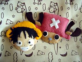 Luffy + Chopper by aiwa-9