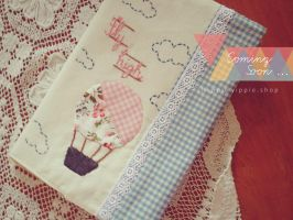 Quilt Handmade Notebook by heppieyippie
