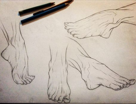Practicing feet by SinisterSerenityy