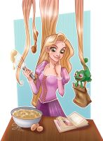 Cooking Rapunzel +Art Trade+ by 77Shaya77