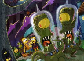 Simpsons Halloween mosic by smallrinilady