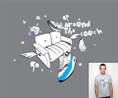 Around the couch tshirt by JaxeNL